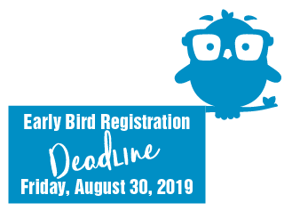Early Bird Rates end Aug 30 2019