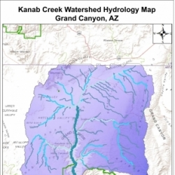 Kanab Creek Watershed Hydrology Map Grand Canyon, AZ