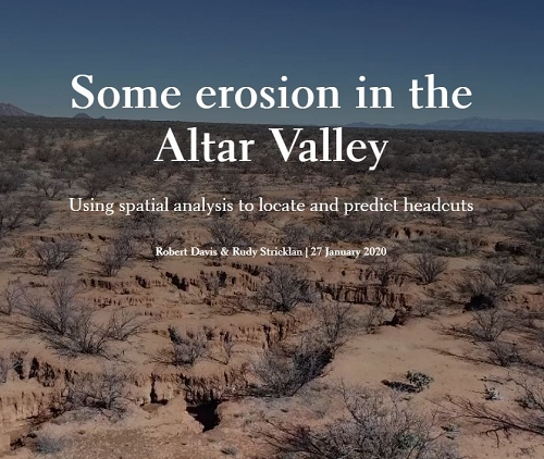 Some erosion in the Altar Valley