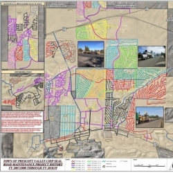 Town of Prescott Valley Chip Seal Road Maintenance History Plan Map